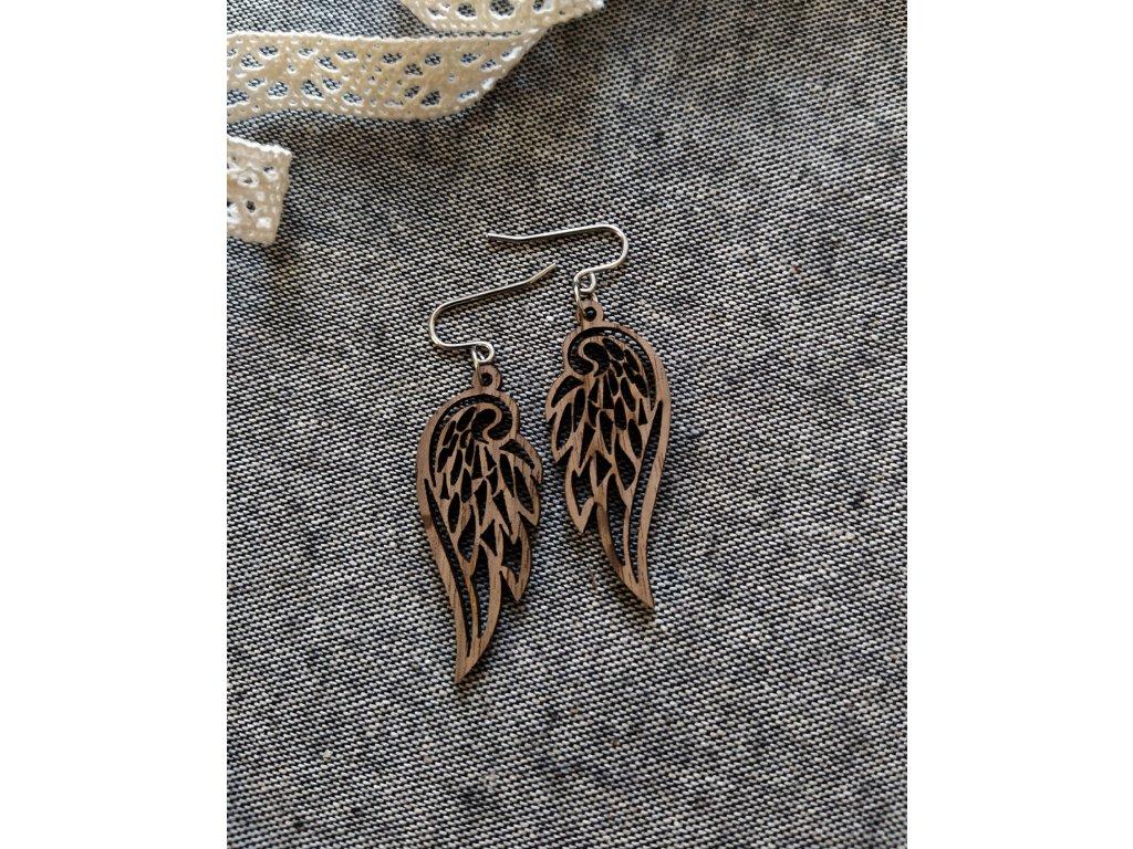 """Dřevěné náušnice """"Křídla andělů"""""""