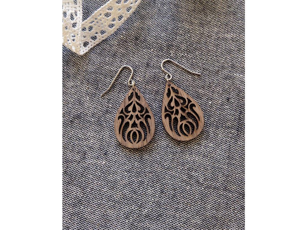 """Dřevěné náušnice """"Ornamenty"""""""