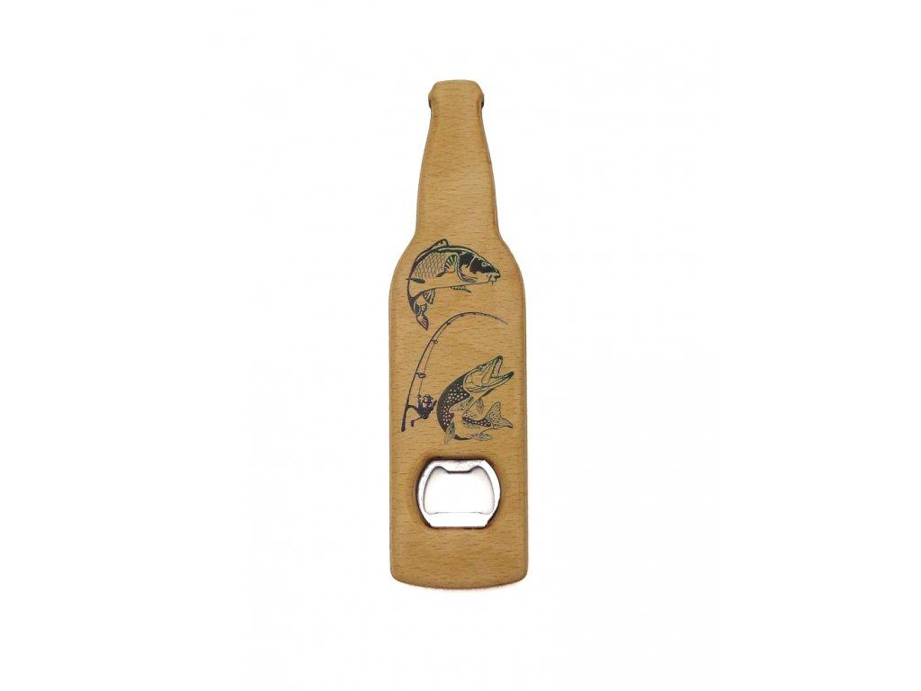 Dřevěný otvírák -  kapr, štika