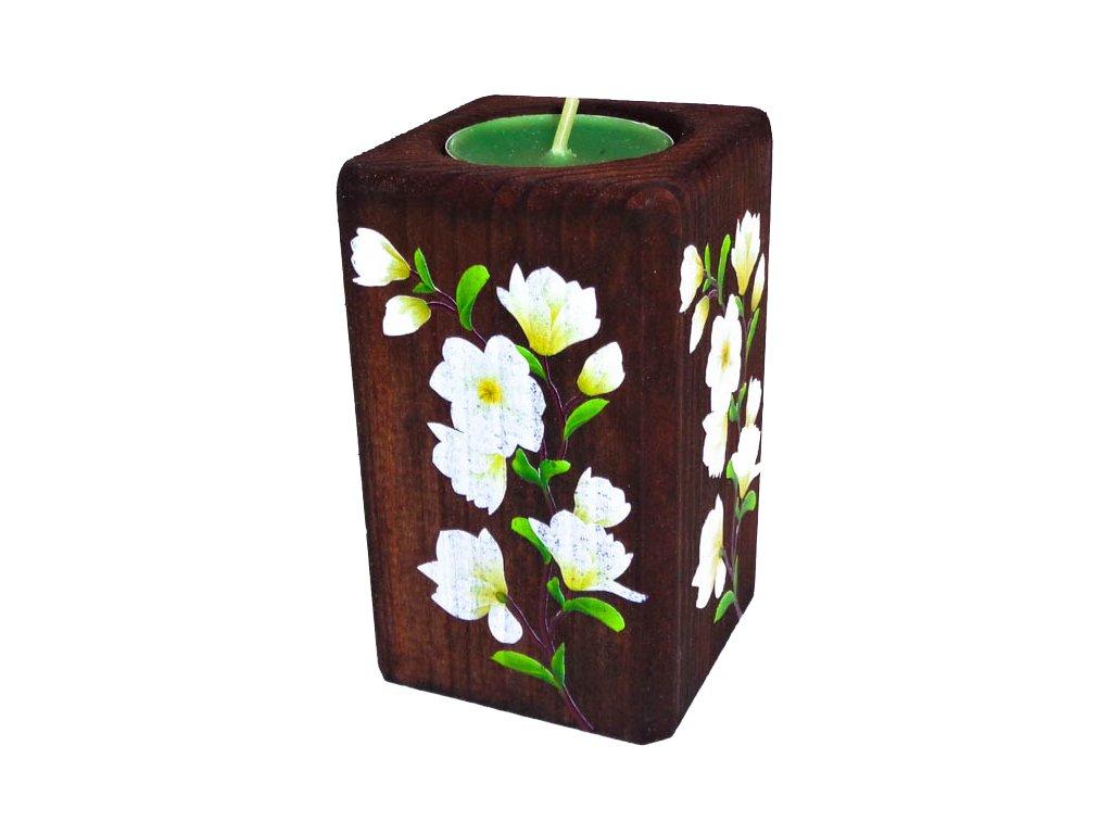 """Dřevěný svícen """"Magnólie"""""""