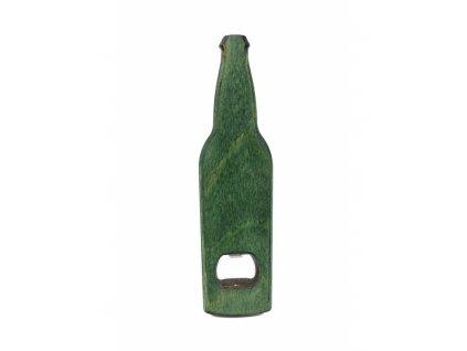 Dřevěný otvírák - zelený