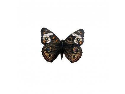 Dřevěná brož - motýl Babočka