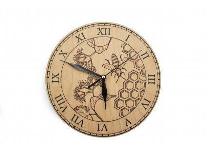 Dřevěné hodiny - včela