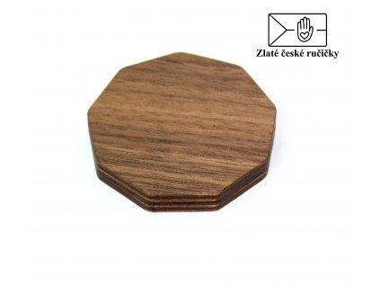 Dřevěné zrcátko - Ořech