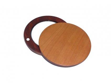 Dřevěné zrcátko - Třešeň