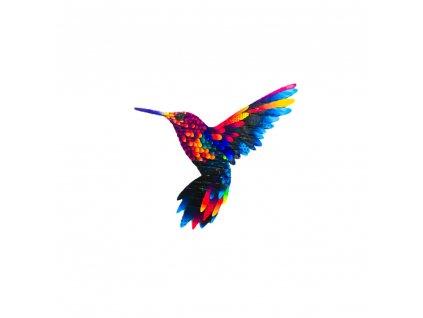 Dřevěná brož - kolibřík