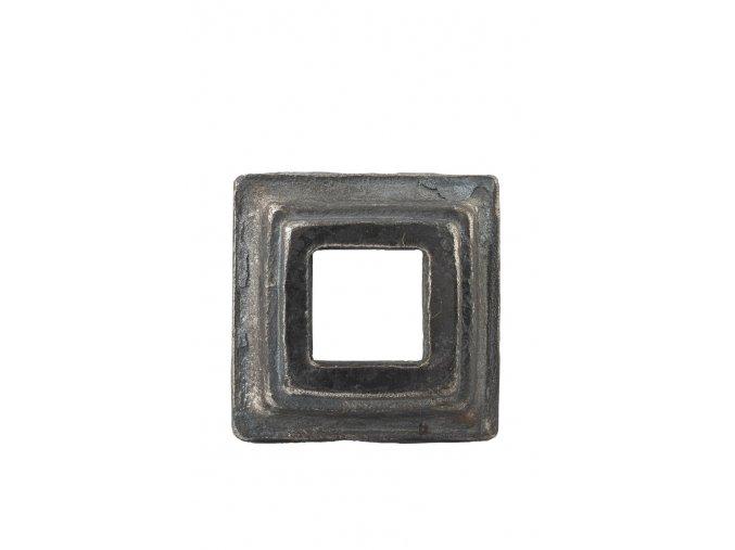 Krytka kovaná s otvorem 30 mm, 60x60x20 mm