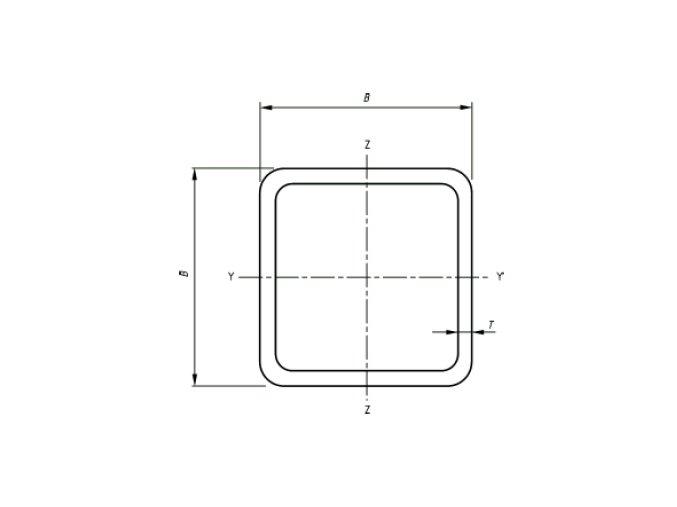 Jekly čtvercové 20x20x3 mm