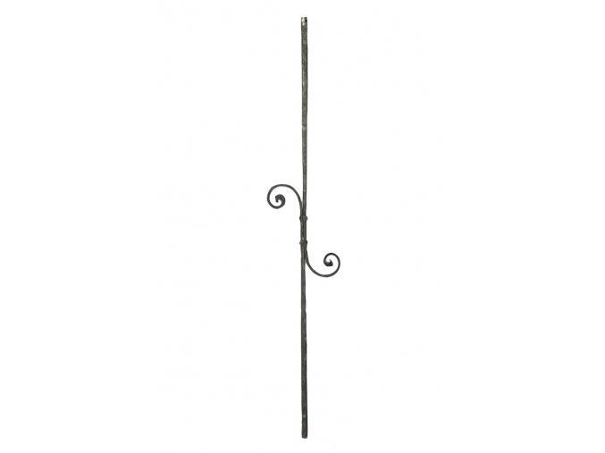 Ozdobná kovaná tyč 16x16 mm, velikost 1000 mm