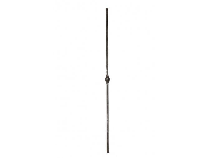 Tyč kovaná s ozdobným středem  kulatina 12 mm, velikost 950 mm