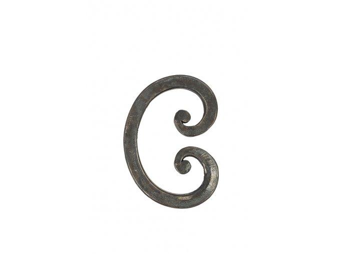 Prvek ve tvaru C -  kovaný, 12x12 mm, 85x120 mm