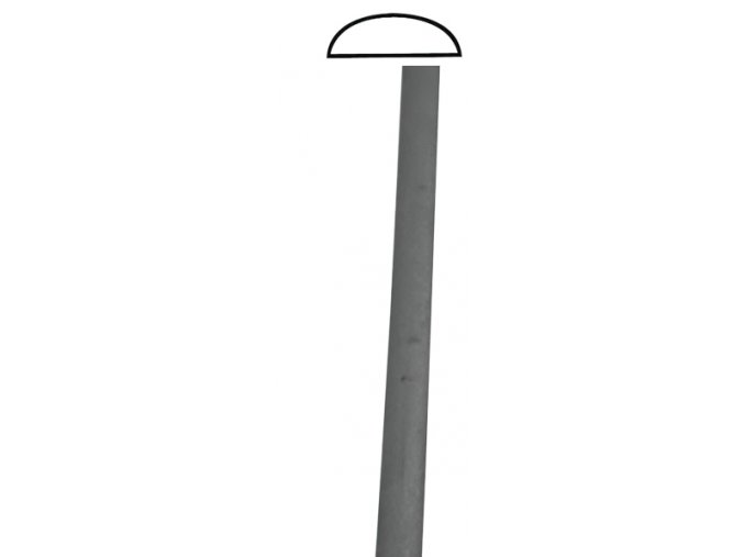Madla ve tvaru D hladká  40x12 mm