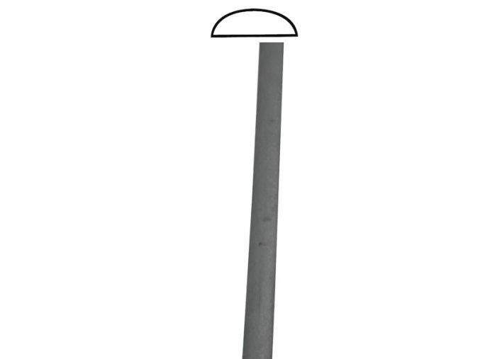 Madla ve tvaru D hladká 50x12 mm