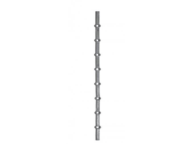 Probíjené tyče 16x16 mm, otvor 16 mm, rozteč 150 mm