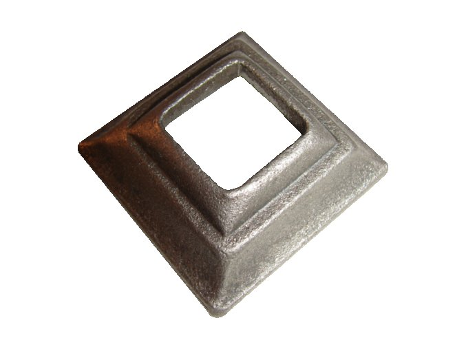 Krytka kovaná  s otvorem 40,5 mm, 80x80x20 mm