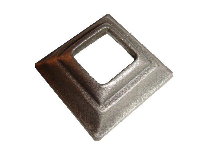 Krytka kovaná  s otvorem 25,5 mm, 60x60x20 mm