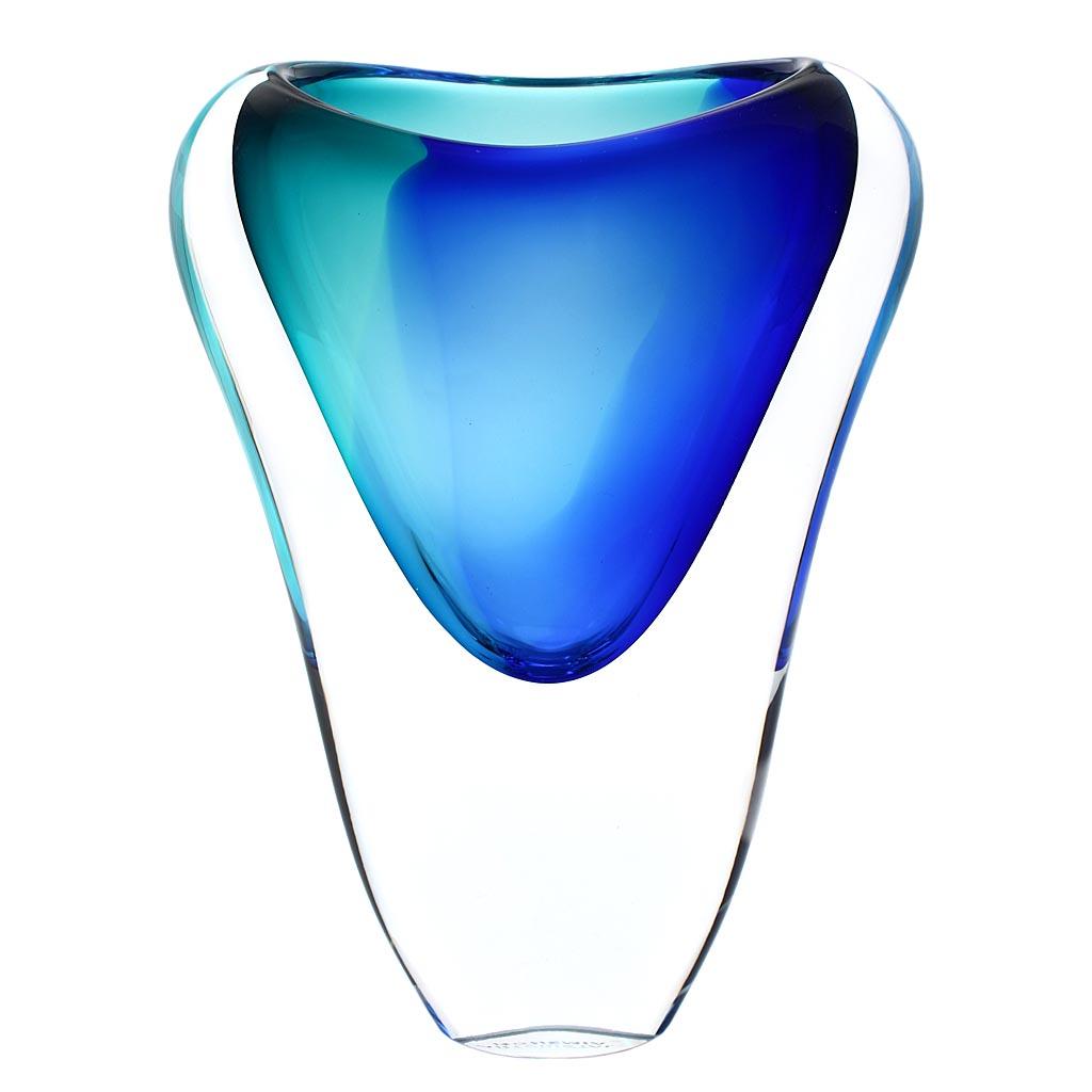 Skleněná váza 05 AQUA - modrá a tyrkysová
