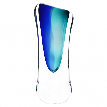 Skleněná váza 00 AQUA - modrá a tyrkysová