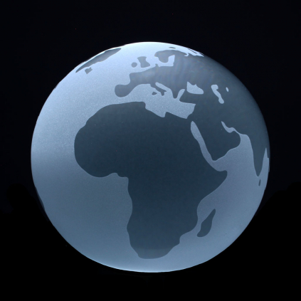Briefbeschwerer Weltkugel, Kristall