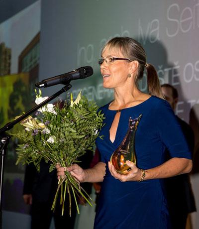 Nejlepší architekti obcí byli oceněni naším výrobkem, v Praze 2018.
