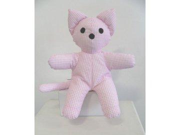 maňásek kočka růžová
