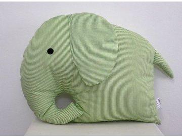 polštář slon zelený