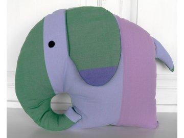 polštář slon fialový