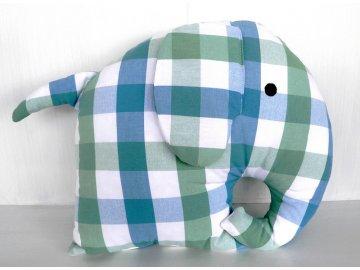 polštář slon kostkovaný