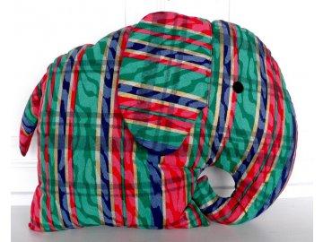 polštář slon pruhovaný