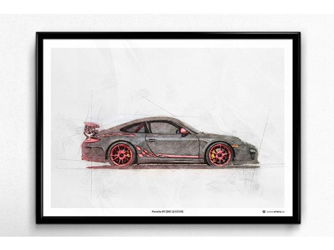 Porsche 911 (997.2) GT3 RS - plakát, obraz na zeď