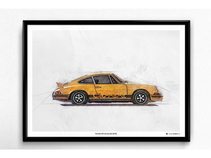 Porsche 911 Carrera RS (1973) - plakát, obraz na zeď