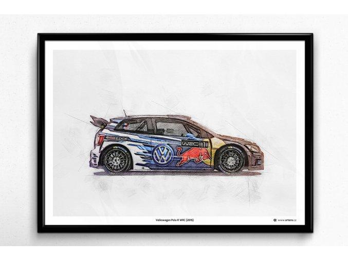 Volkswagen Polo R WRC (2015) - plakát, obraz na zeď