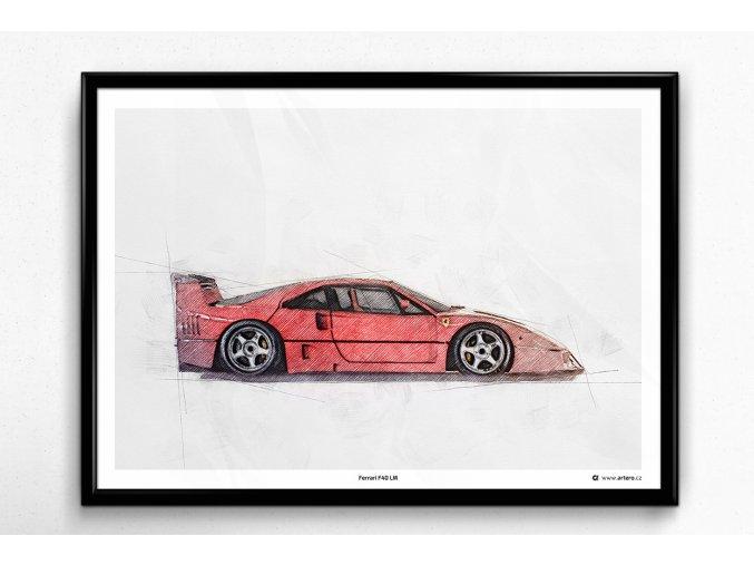 Ferrari F40 LM - plakát, obraz na zeď