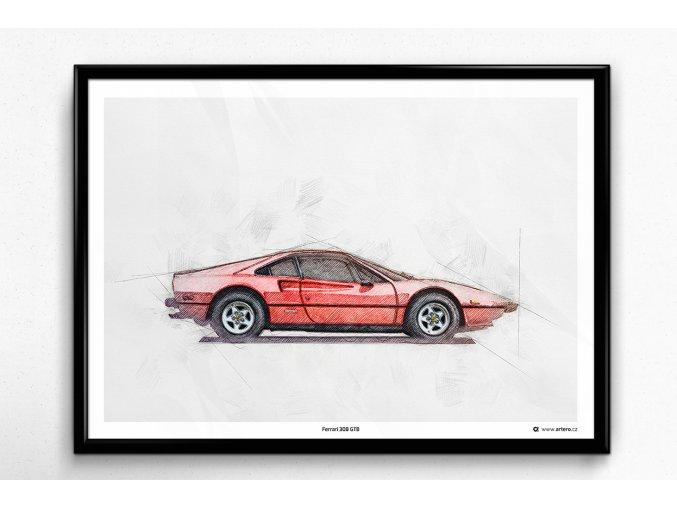 Ferrari 308 GTB - plakát, obraz na zeď