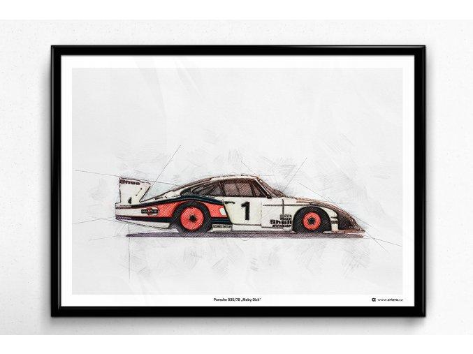 "Porsche 935/78 ""Moby Dick"" - plakát, obraz na zeď"