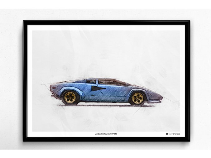 Lamborghini Countach LP400S - plakát, obraz na zeď