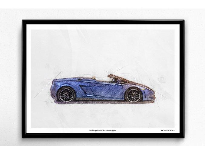 Lamborghini Gallardo LP550-2 Spyder - plakát, obraz na teď