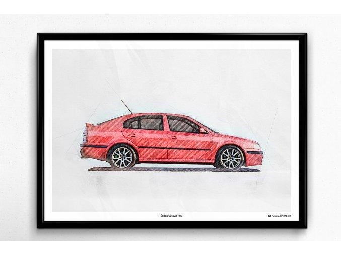 Škoda Octavia 1 RS - plakát, obraz na zeď