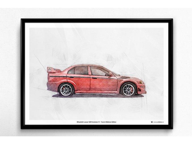 Mitsubishi Lancer EVO VI Tommi Mäkinen Edition - plakát, obraz na zeď