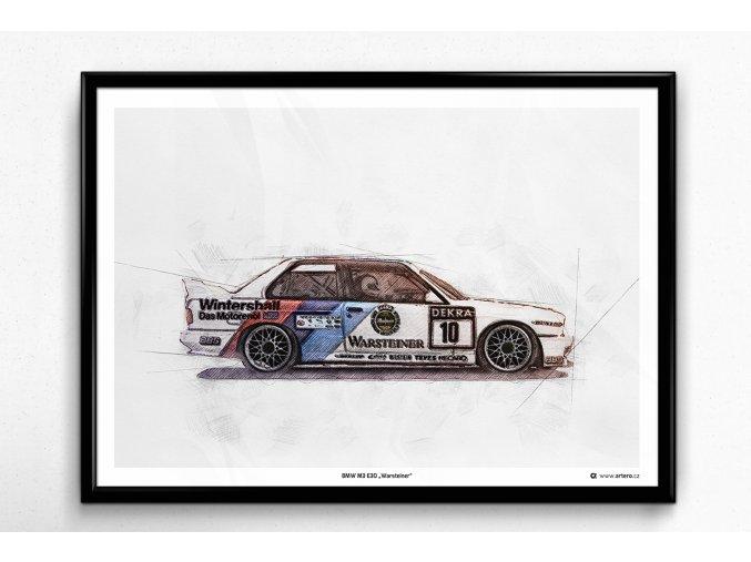 """BMW M3 E30 """"Warsteiner"""" - plakát, obraz na zeď"""