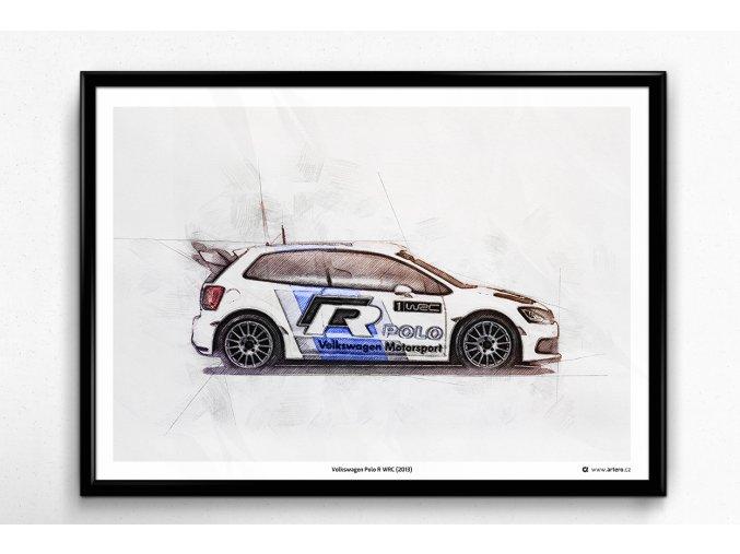 Volkswagen Polo R WRC (2013) - plakát, obraz na zeď