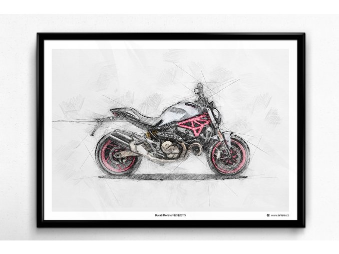 Ducati Monster 821 - plakát, obraz na zeď