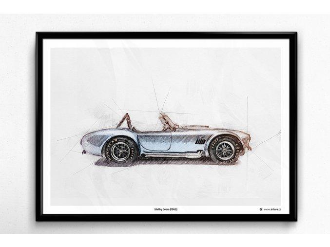 Shelby Cobra (1965) - plakát, obraz na zeď