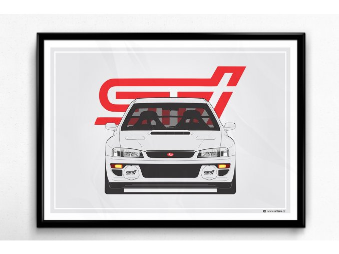 "Subaru Impreza STI 22B ""Front-BL"" - plakát, obraz na zeď"