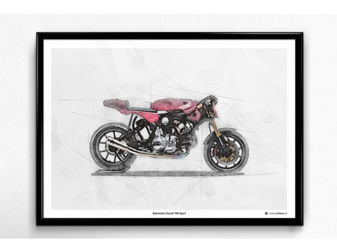 Alpinestars Ducati 750 Sport - plakát, obraz na zeď