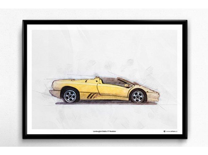 Lamborghini Diablo VT Roadster - plakát, obraz na zeď
