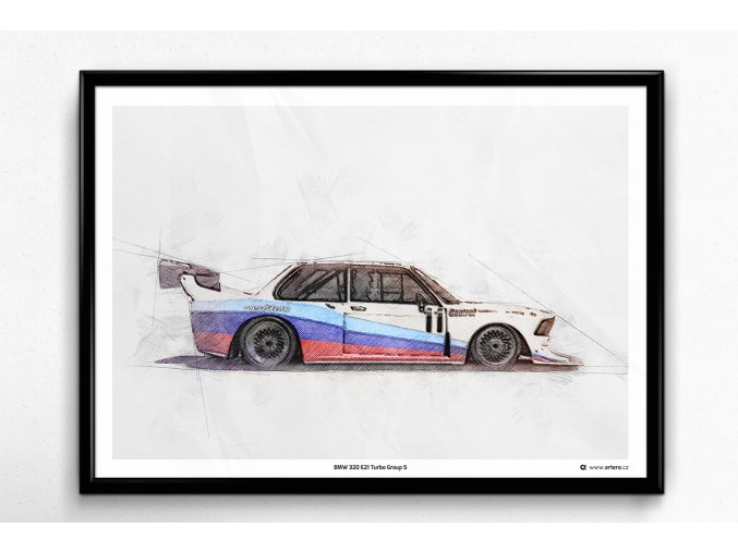 BMW 320 Turbo Group 5 - plakát, obraz na zeď
