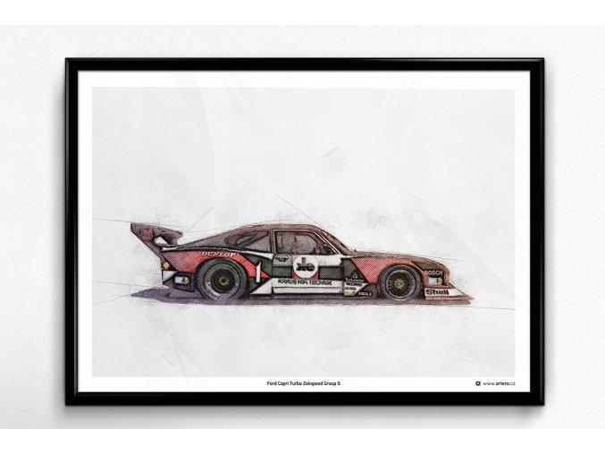 Ford Capri Turbo Zakspeed GR.5 - plakát, obraz na zeď