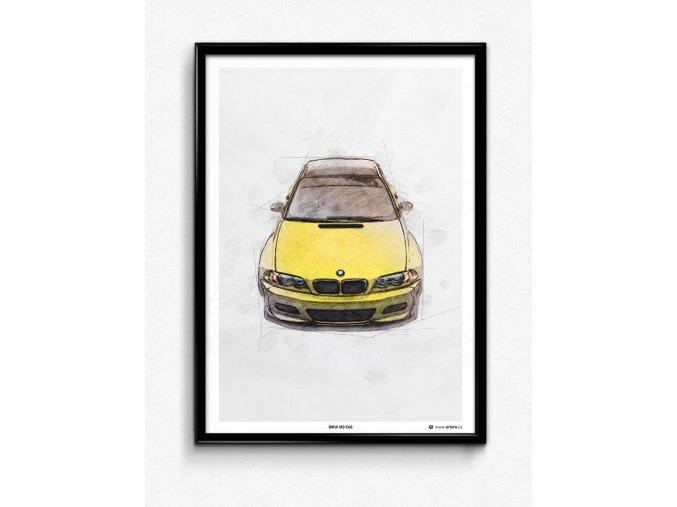 BMW M3 E46 Rocketbunny - plakát, obraz na zeď
