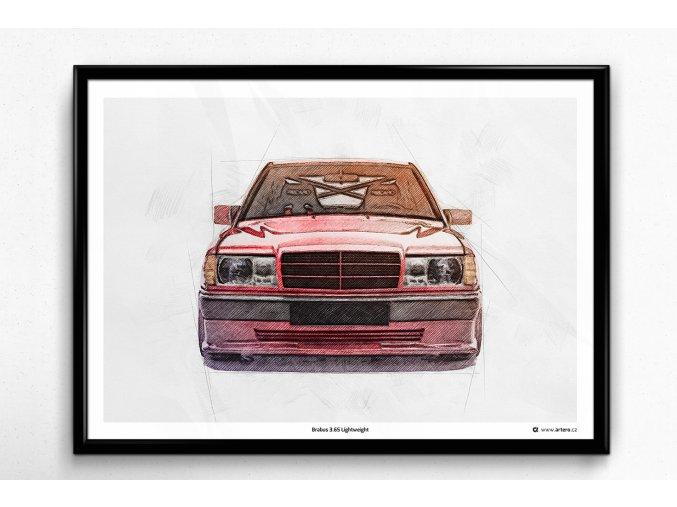 Mercedes-Benz Brabus 190E 3.6S - plakát, obraz na zeď
